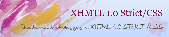 XHTML/CSS template design