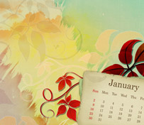 Desktop calendar for January 2011